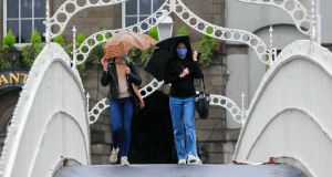 Members of the public in Dublin on Friday as the Covid-19 pandemic continues. Photograph: Gareth Chaney Collins