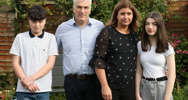 Jan Rynne with her husband Michael, son Daniel (12) and daughter Emily (15).   Photograph: Nick Bradshaw