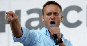 Russian opposition activist Alexei Navalny. A survey in June found Navalny was Russia's second most 'inspirational' politician, after the president. File photograph: Pavel Golovkin/AP Photo