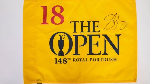 The flag from the final hole of Shane Lowry's Open Championship victory sold for €2,200