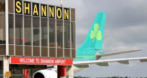 The loss of Aer Lingus transatlantic flights would be a blow to Shannon Airport and to the west of Ireland. Photograph: Arthur Ellis/Press22