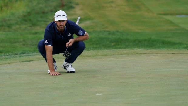 Dustin Johnson was beaten in a play-off at Olympia Fields. Photograph: Stacy Revere/Getty