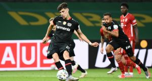 Kai Havertz wanted to leave Leverkusen after the club  failed to qualify for the Champions League. Photograph: Getty