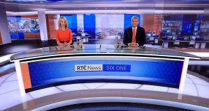 Caitríona Perry and David McCullagh, who presented RTÉ's flagship Six One News on Monday