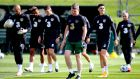 Stephen Kenny takes Ireland training on Monday. Photograph: Ryan Byrne/Inpho