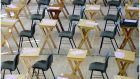 The Department of Education has dropped plans for its controversial 'school profiling' which took account of an individual school's track record in the last three years to help determine whether teachers' estimated Leaving Cert grades  were accurate. Photograph: Bryan O'Brien/The  Irish Times
