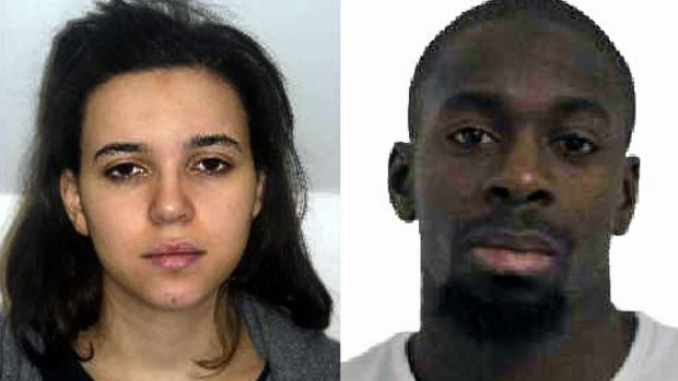 Hayat Boumeddiene (left) and Amedy Coulibaly. File photographs: French Police/AFP/Getty