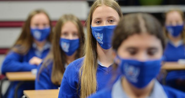 Transition-year students at Mount Sackville in Chapelizod: Internationally, the vast majority of infections among schoolchildren  usually involve parent-to-child transmission in the home.  Photograph: Alan Betson
