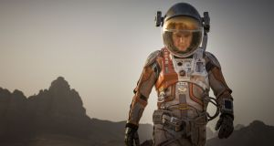 Matt Damon takes all precautions on return to Ireland. Oh no, hang on it's a still from The Martian