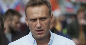 Russian opposition activist Alexei Navalny: Fell ill on a flight back to Moscow from Siberia on August 20th. Photograph: Sergei Ilnitsky/EPA