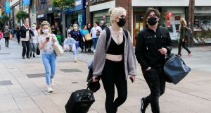 Members of the public wearing face masks on Dublin's Henry. File photograph: Gareth Chaney/Collins