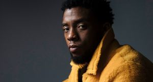 "Chadwick Boseman poses for a portrait in New York to promote his film, ""Black Panther."" Photograph:   Victoria Will/Invision/AP"