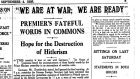 The top of Page 3, The Irish Times, September 4th, 1939