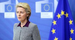 President of the European Commission Ursula von der Leyen. Photograph: Francois Walschaerts/EPA