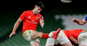 Conor Murray in action against Leinster. Munster remained blindly committed to the box kick tho little effect at the Aviva Stadium. Photograph: Billy Stickland/Inpho