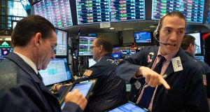US technology shares that powered stock markets to records this summer dropped for a third consecutive session on Tuesday. Photograph:  Bryan Smith/AFP/Getty Images