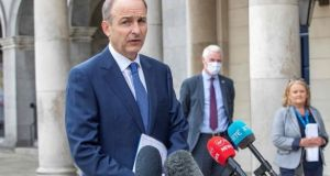 "Taoiseach Micheál Martin said Britain's threat to would breach the Brexit treaty was ""not an acceptable way to conduct negotiations"". File photograph: Paul Faith/AFP via Getty Images"