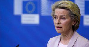 European Commission president Ursula von der Leyen said: 'This would break international law and undermines trust. Pacta sunt servanda = the foundation of prosperous future relations.' Photograph: Aris Oikonomou/EPA