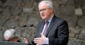 Sir Declan Morgan Lord Chief Justice of Northern Ireland said the British government's comments about the Northern Ireland protocol   enable 'others to take the view that they can choose which laws apply to them'. Photograph: Alan Betson