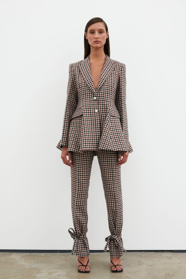 Check blazer with matching trousers by JW Anderson