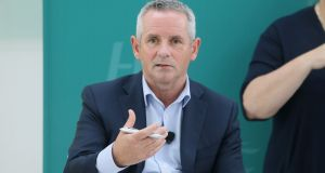HSE CEO Paul Reid at Thursday's media briefing in UCD. Photograph: Leah Farrell / Photocall Ireland