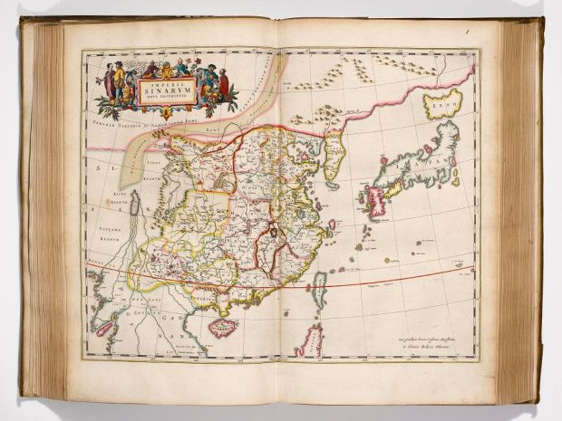 A hand-coloured map of Japan and China from 1662. This is on display in our current exhibition