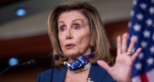 "Speaker of the House Nancy Pelosi: ""What were they thinking? Whatever it is, I hope they're not thinking of a US-US bilateral trade agreement."" Photograph: Shawn Thew/EPA"