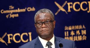 Congolese Nobel Peace prize winner Denis Mukwege. Photograph: Behrouz Mehri/AFP via Getty