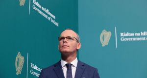 Minister for Foreign Affairs Simon Coveney: Irish officials are playing down the prospects of taking legal action against Britain under a treaty its government will have already undermined. Photograph: Julien Behal