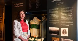 Dr Siobhán Doyle, TU Dublin lecturer and GAA Museum tour guide, at the launch of the GAA Museum's Bloody Sunday centenary events series. Photograph: Brendan Moran/Sportsfile