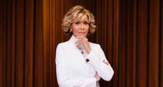 Jane Fonda. Photograph: composite image; main photograph by Caroline McCredie/Getty Images