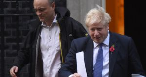British political adviser Dominic Cummings and prime minister Boris Johnson: Britain is Britain with all of its strengths and weaknesses. Johnson-Cummings have played to those weaknesses. Photograph: Peter Summers/Getty