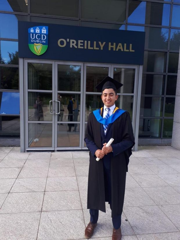 Marcus Ryan, 22, from Foxrock, recently uated from UCD with a BA in economics.