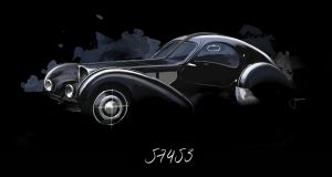 The Bugatti Type 57 SC is known in the trade as La Voiture Noire.