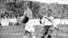 England goalkeeper Bert Williams after Joe Gaetjens' first half goal. File photograph: Getty Images