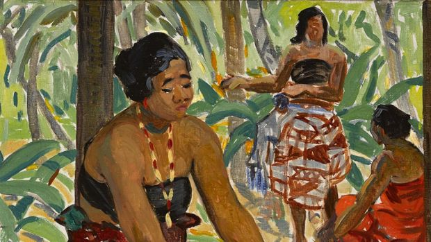 Preparing the Meal, Samoa, by Mary Swanzy (Lot 47 €30,000–€50,000)