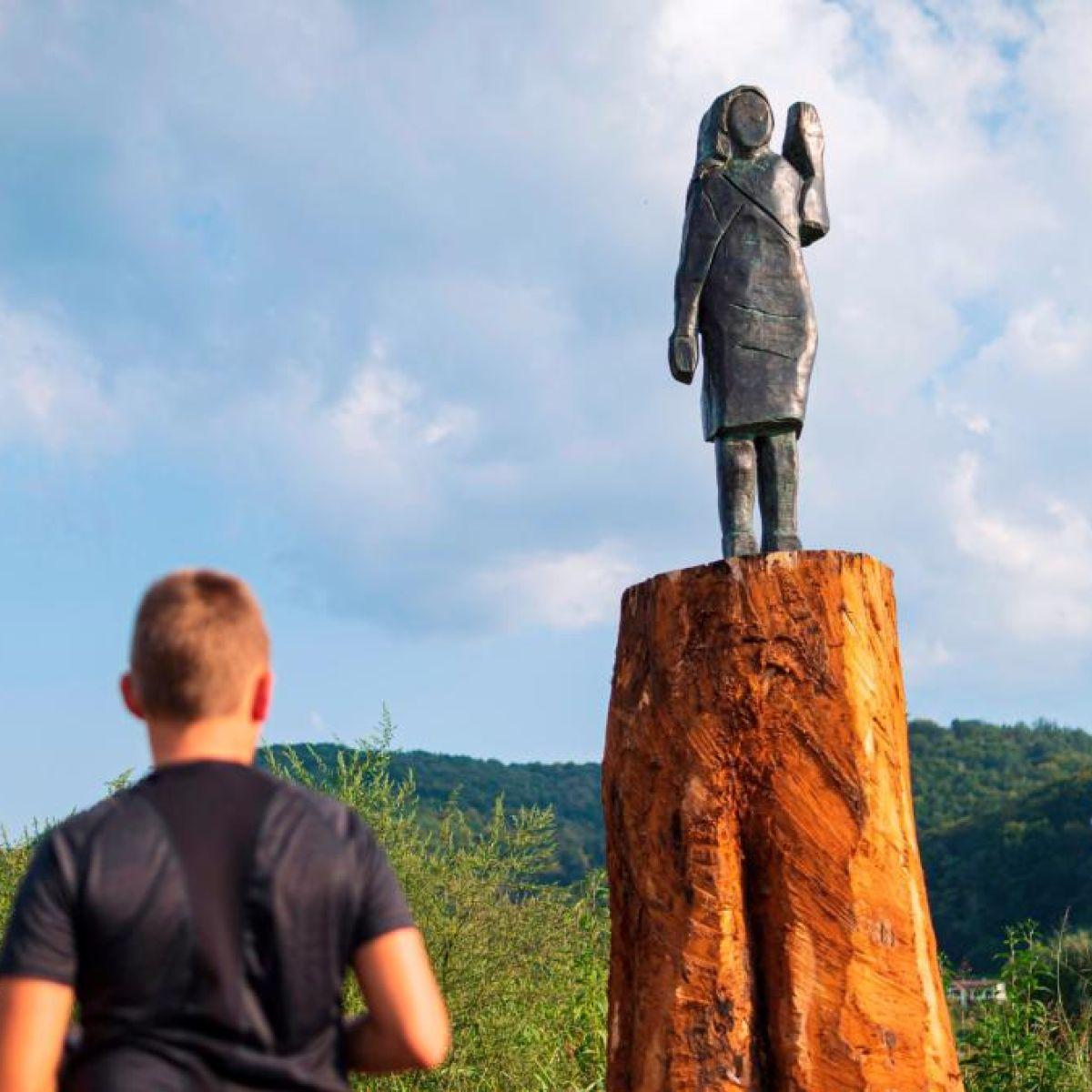 Melania Trump Statue Returns In Slovenia This Time In Bronze