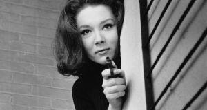Diana Rigg as Emma Peel in the television series The Avengers. Photograph:  Terry Disney/Express/Getty Images