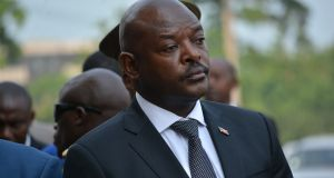 Burundi's former president Pierre Nkurunziza: he refused to step down after two terms. Photograph: Anadolu Agency/Getty Images