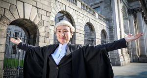 Fei Liang outside the Four Courts after being called to the Bar. Photograph: Crispin Rodwell