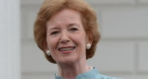 Former president Mary Robinson was speaking at the remote Global Ireland 2020 conference. File photograph: Cyril Byrne