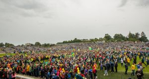 Donegal fans celebrate last year's Ulster final victory over Cavan at Clones. Photograph: James Crombie/Inpho