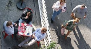Outdoor diners in Dublin city centre on Friday. Photograph: Sasko Lazarov/Rollingnews.ie