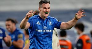 Johnny Sexton returns to start for Leinster against Saracens. Photograph: Billy Stickland/Inpho