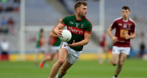 Aidan O'Shea: Mayo talisman will be looking to inspire Breaffy to a Mayo SFC final win over Knockmore. Photographer: Donall Farmer/Inpho