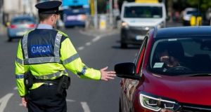 Garda checkpoints will also be established throughout the county with personnel from surrounding counties focussing on patrols of destination public amenities and open spaces. Photograph: Gareth Chaney/Collins