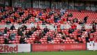 Fans watch Middlesbrough and Bournemouth's draw at the Riverside Stadium on Saturday afternoon. Photograph: PA