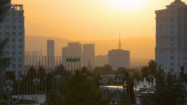 The capital of Turkmenistan, Ashgabat. Photograph: Getty Images