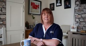 Healthcare worker and Covid-19 survivor Sharon Vickery is nervous about contracting the virus again. Photograph: Crispin Rodwell / The Irish Times