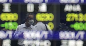 Asian markets were also under pressure as the week began.